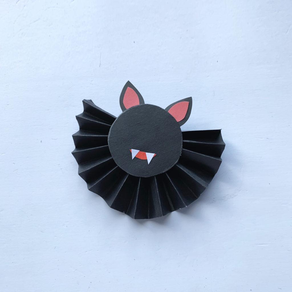 Accordion Fold Bat craft for kids