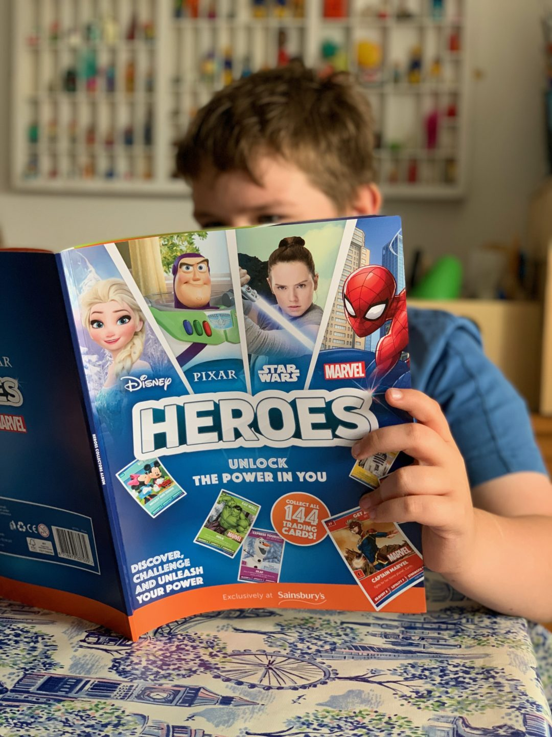 Disney Heroes cards from Sainsbury's