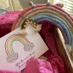 Crafting rainbows {experimenting with rope weaving}
