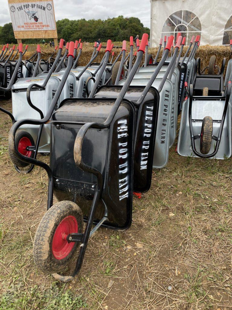 wheel barrow park at The Pop Up Farm