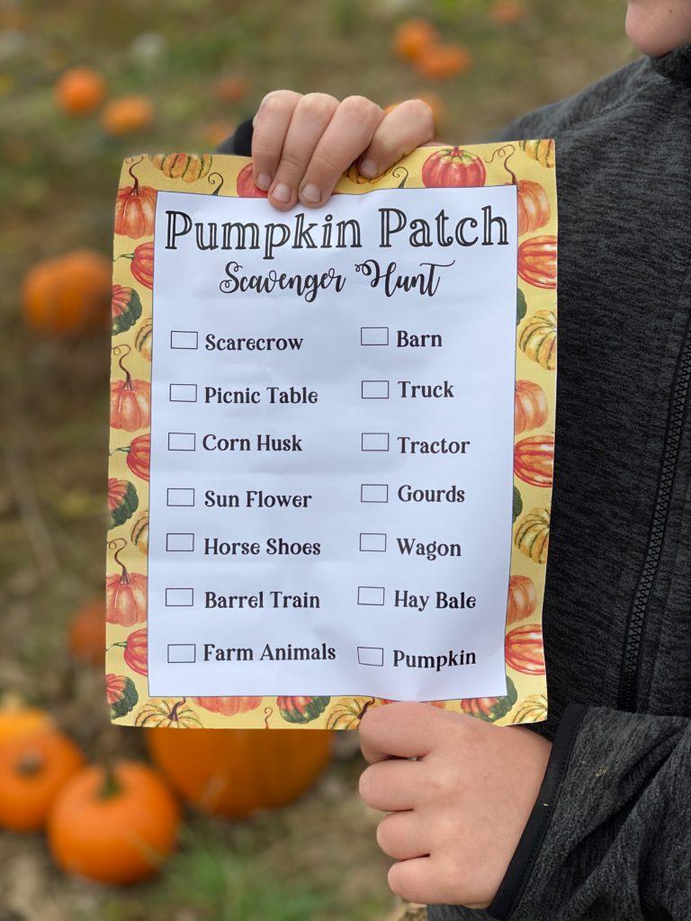 free pumpkin patch printable