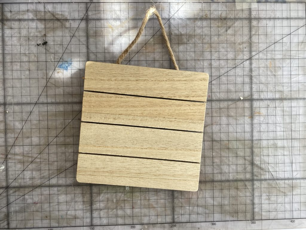 wooden plaque from Hobbycraft