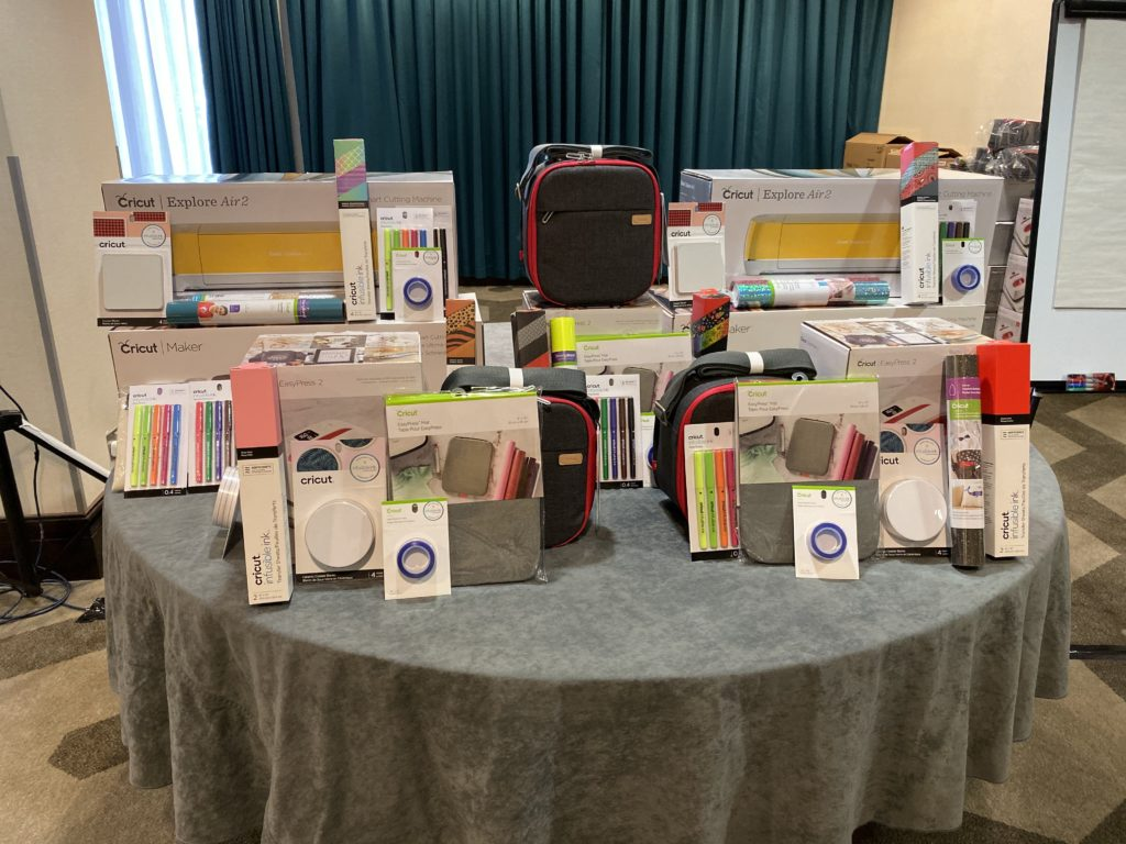 Cricut Meet and Greet raffle prizes