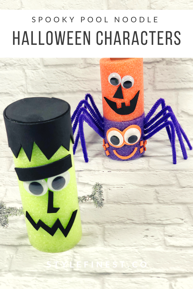 Pool Noodle Halloween Craft for Kids
