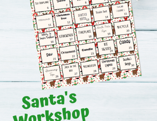 {Free printable} Santa's Workshop Lego Challenge