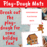 {Free printable} Gingerbread playdough mats
