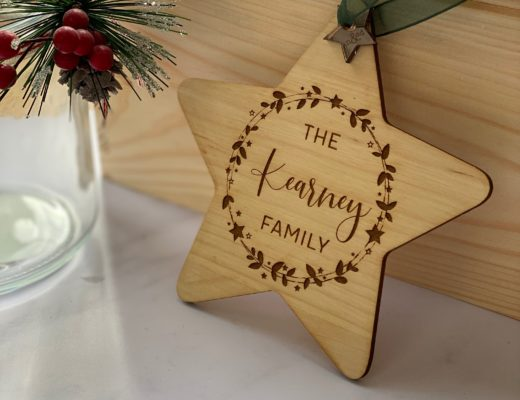 Personalised wooden gifts to give this Christmas