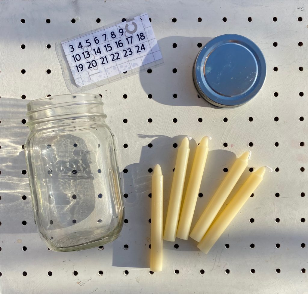 Mindful advent candle kit