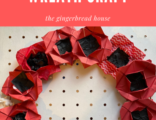How to make an origami poppy wreath