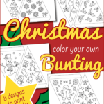 {Free} Colour Your Own Christmas Bunting activity for kids