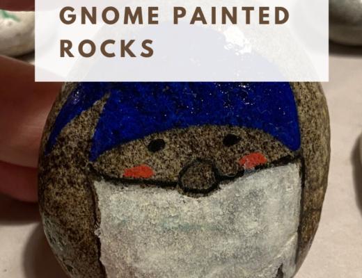Christmas gnome painted rocks