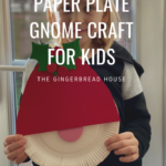 Paper plate gnome craft for kids