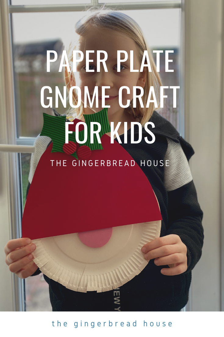 gnome paper plate craft