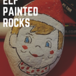 Festive Elf painted rocks