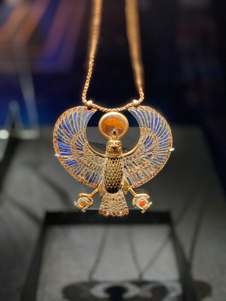 necklace from the Tutankhamun exhibition
