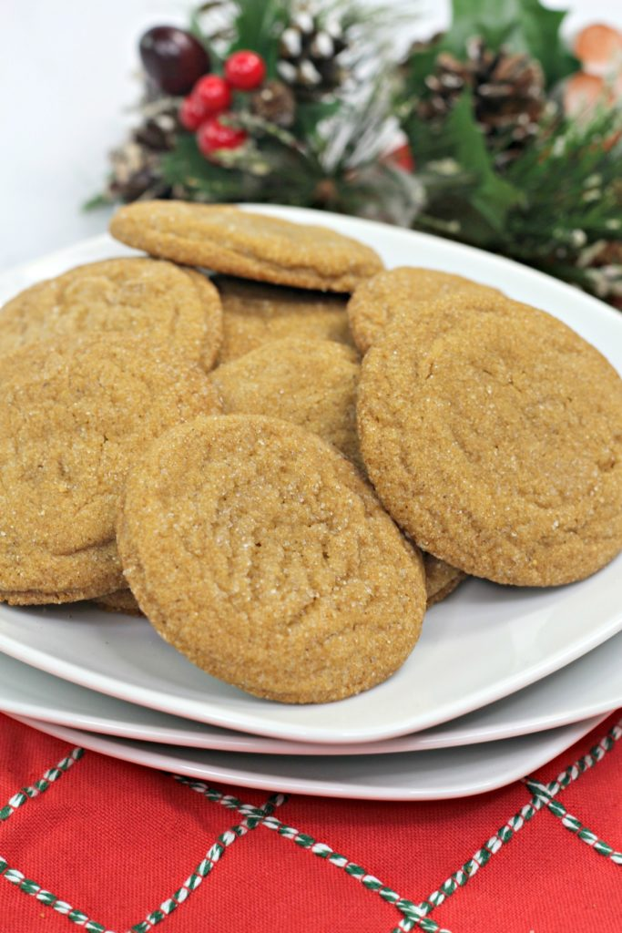 chewy gingerbread molasses dough balls