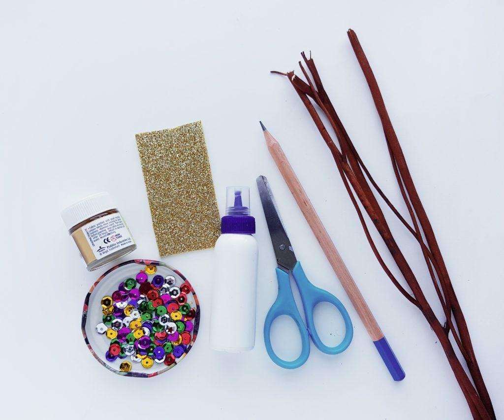 Christmas twig tree craft supplies