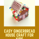 Easy card gingerbread house craft for kids {with free printable}