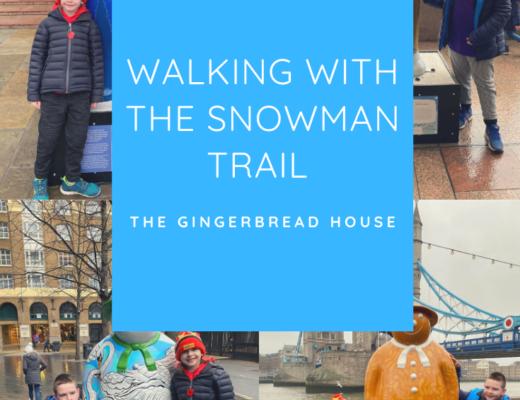Walking with The Snowman trail, London Bridge City 2019