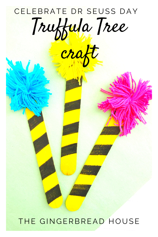 Celebrate Dr Seuss Day: Truffula trees craft