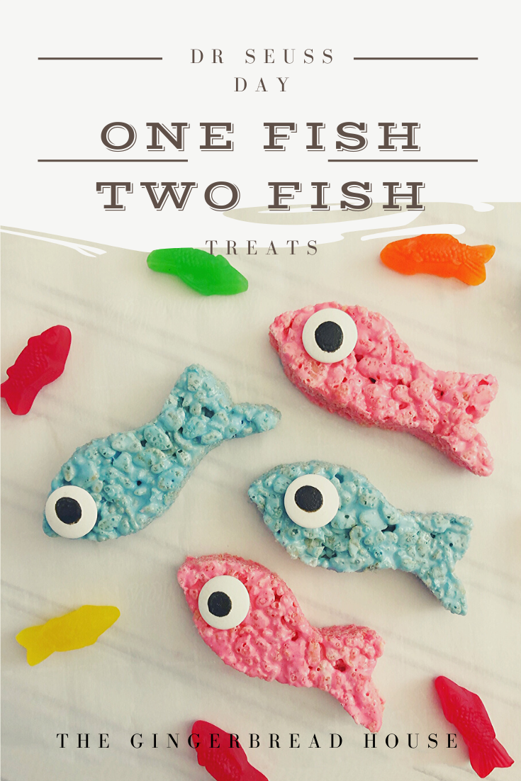 one fish two fish Rice Krispies treats