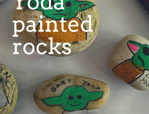 Easy Baby Yoda painted rocks