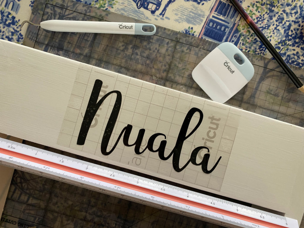 using the cricut to personalise