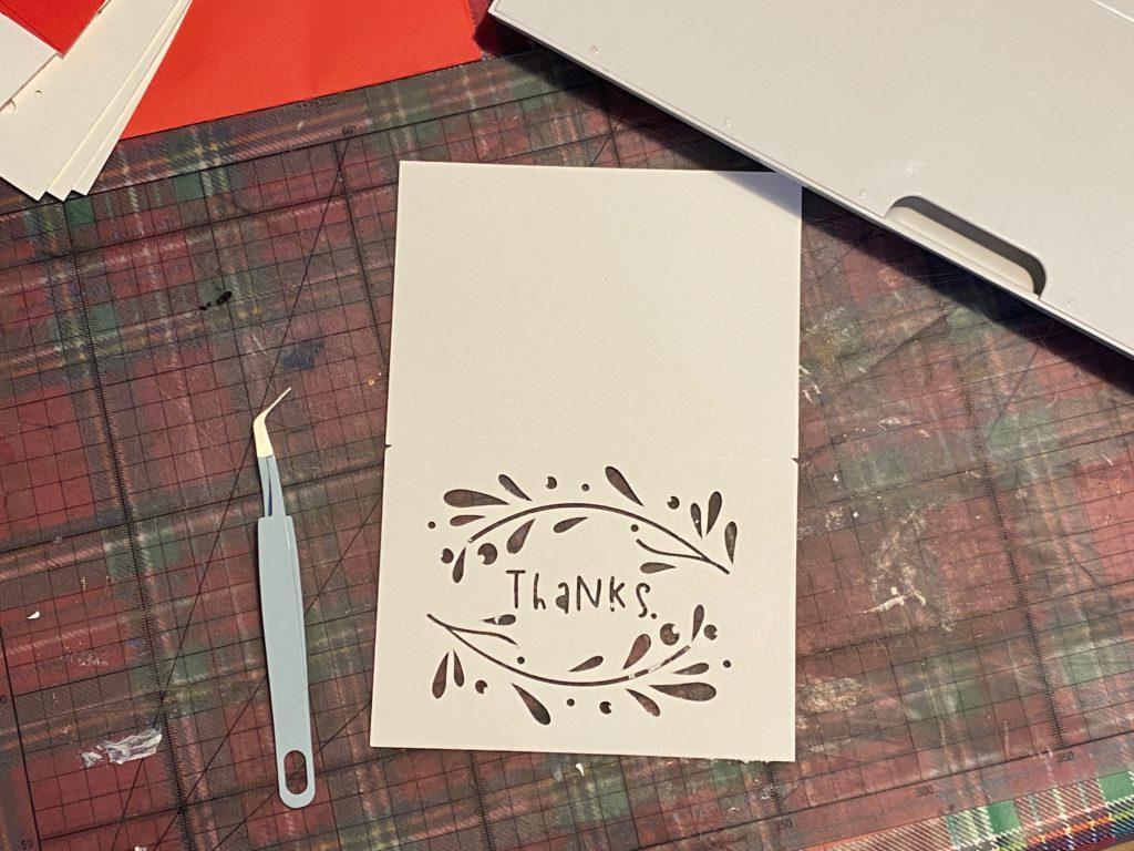 Cricut made Thank You cards