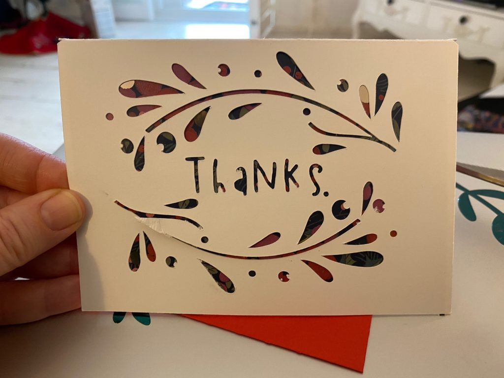 handmade Thank You card for kids