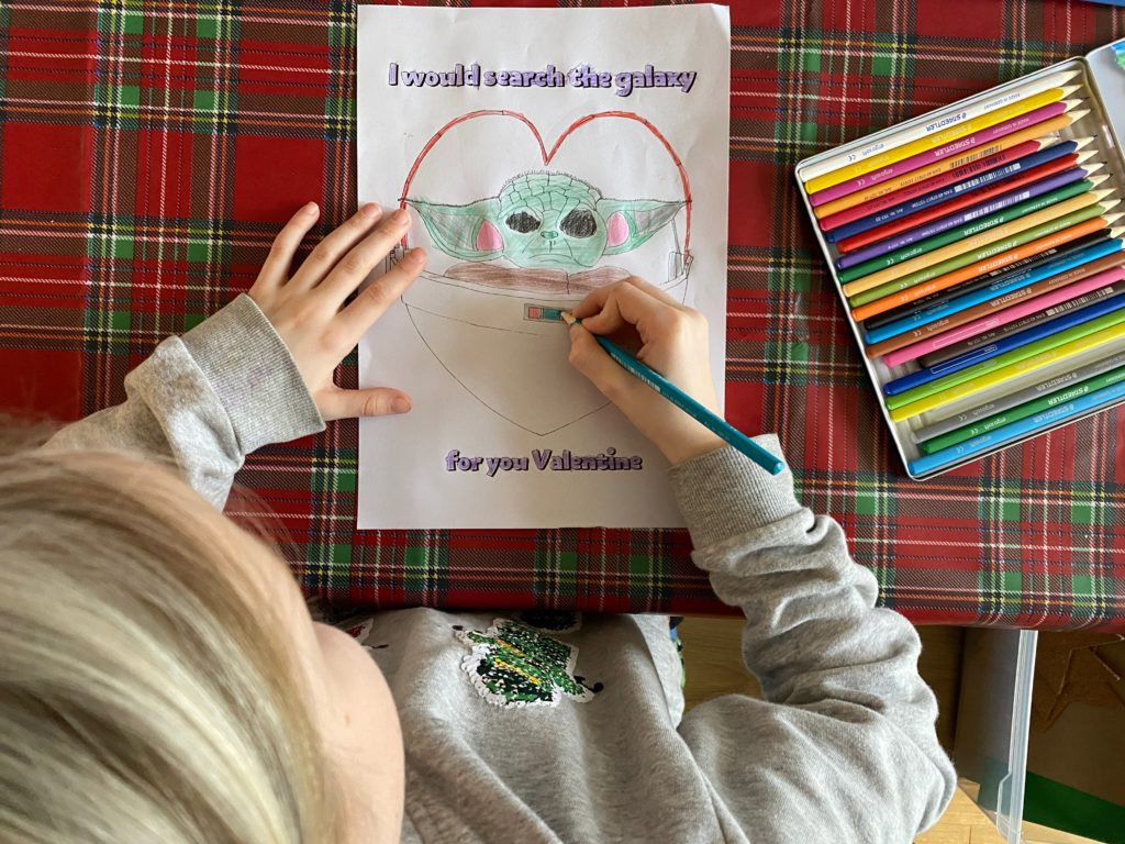free Baby Yoda craft for kids