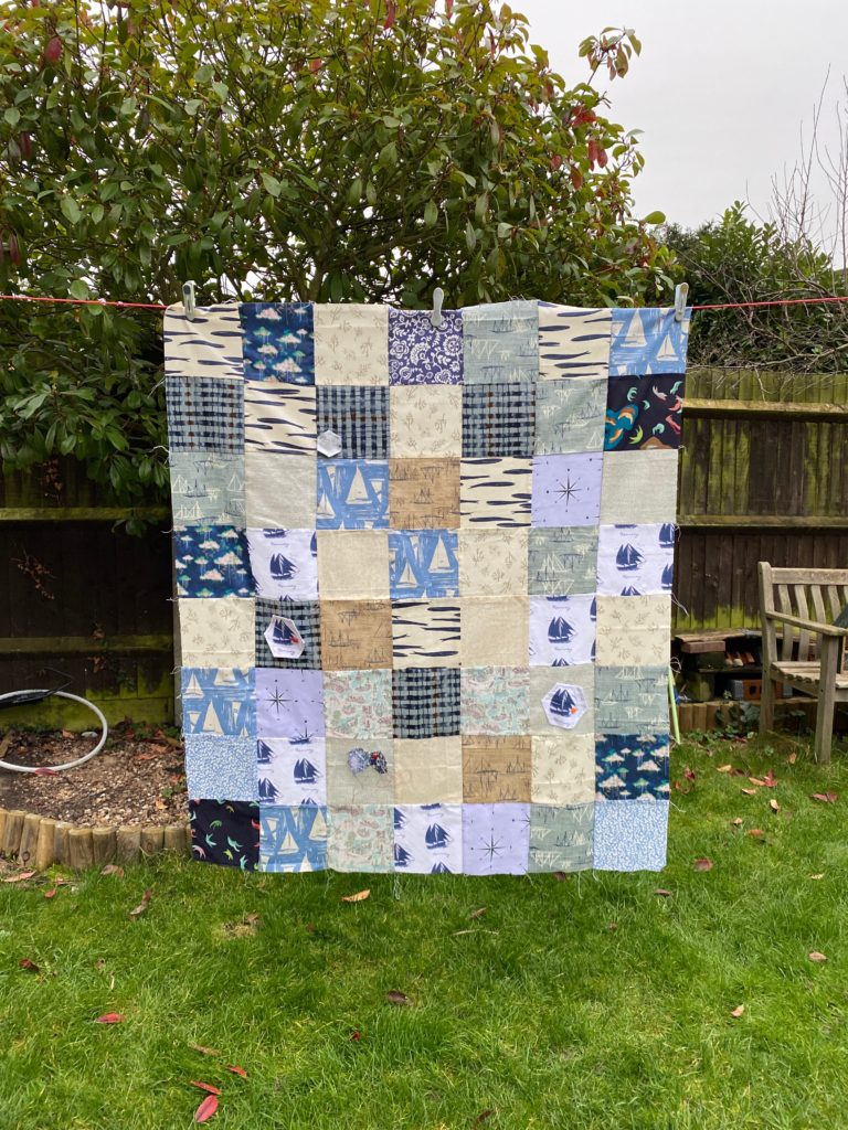 simple quilt back