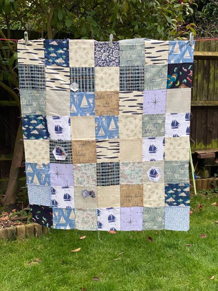 Shipping Forecast quilt back