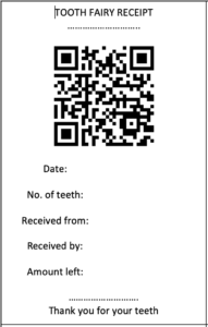 free tooth fairy receipt from the gingerbread house blog