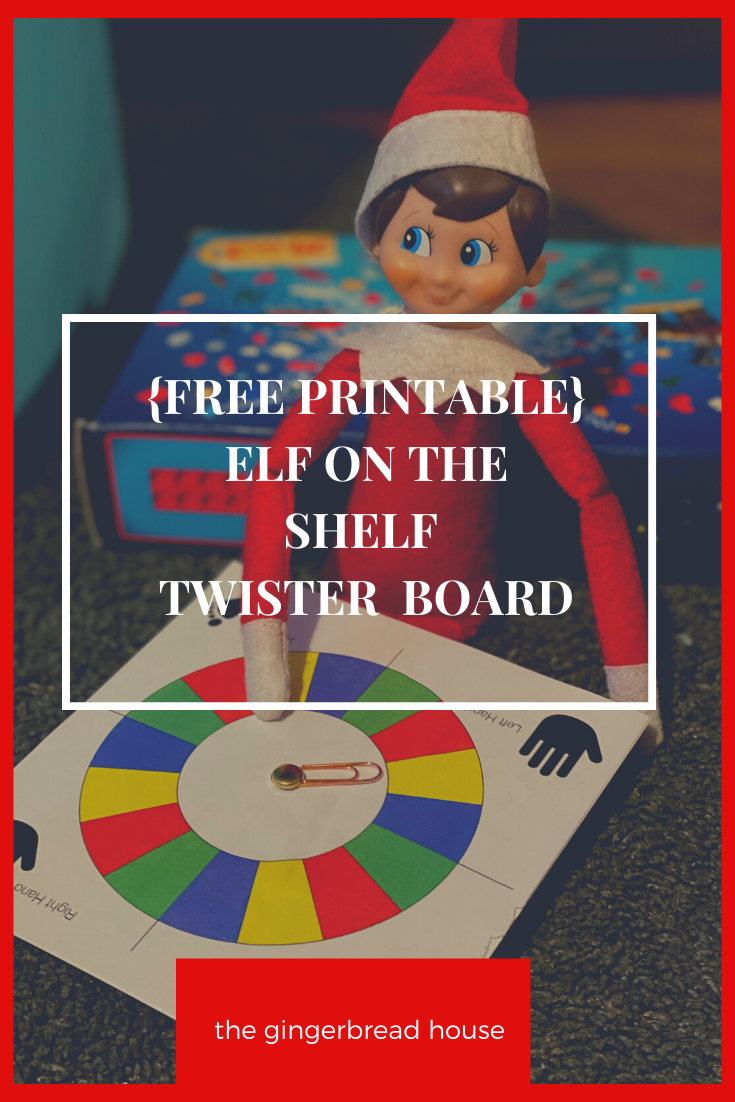 {free printable} Elf on the Shelf Twister game
