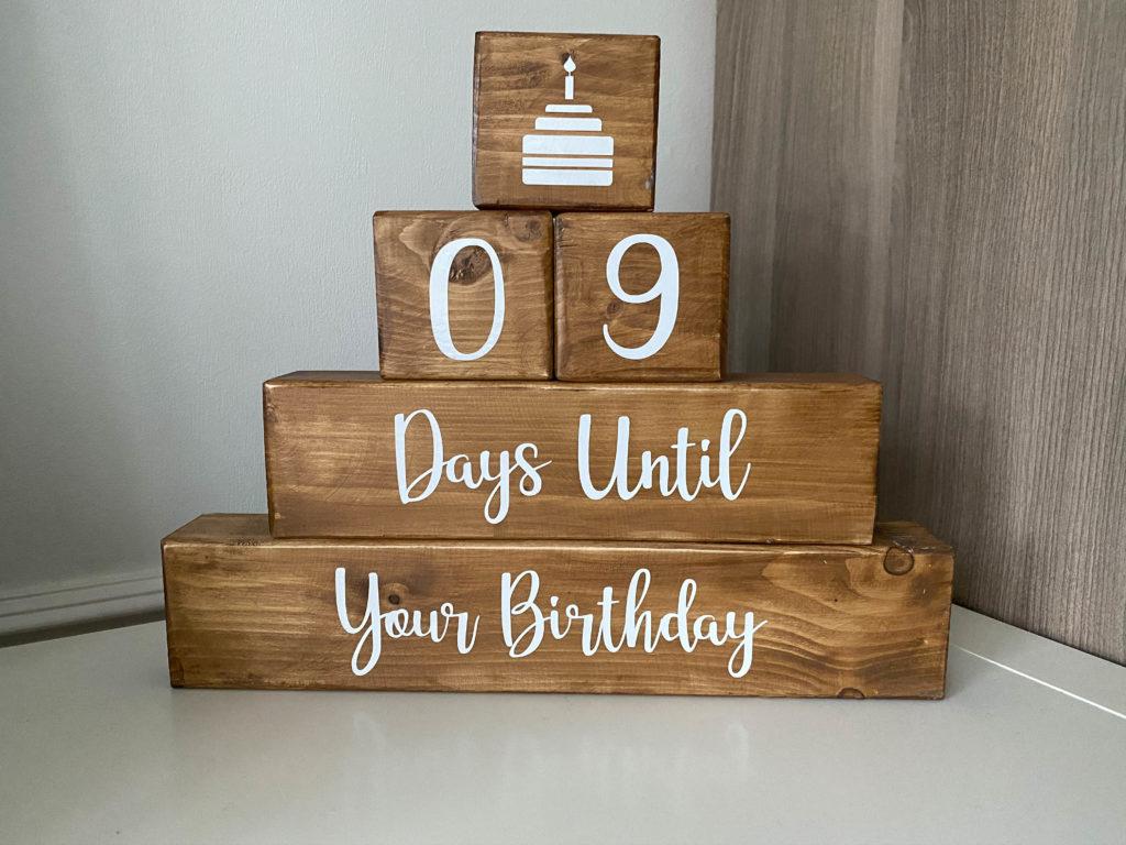 cricut made birthday countdown