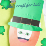 Easy Leprechaun paper plate craft for kids
