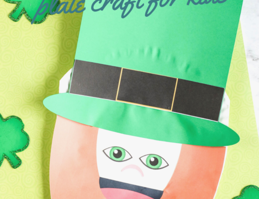 Easy Leprechaun paper plate craft for kids the gingerbread house