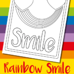 Free rainbow colouring page for kids