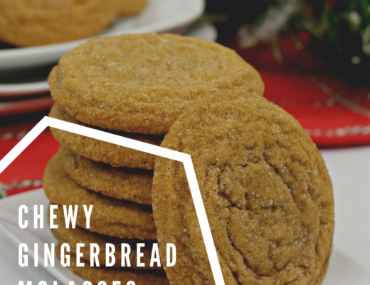 Chewy Gingerbread molasses cookies recipe from the gingerbread house blog
