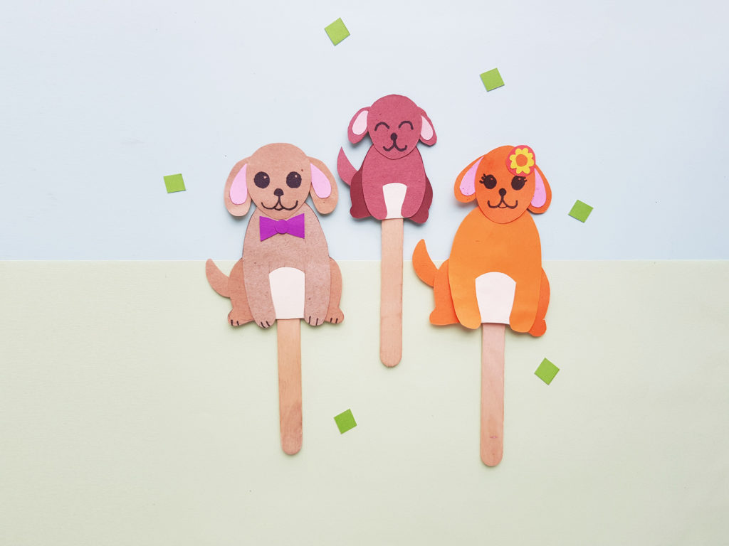 easy paper puppy puppets craft