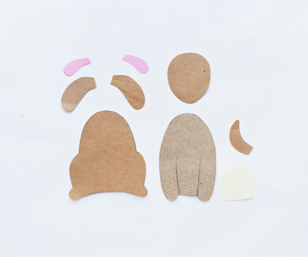 Paper puppy puppets craft for kids
