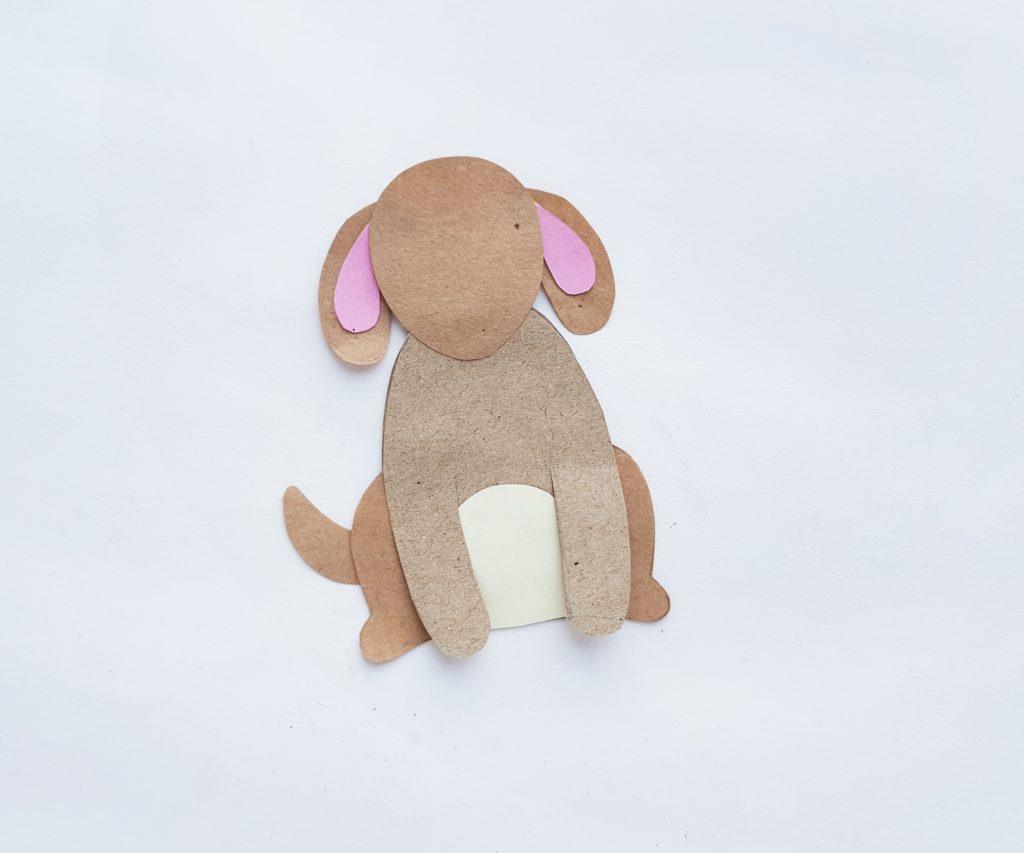 cute paper puppy puppets craft