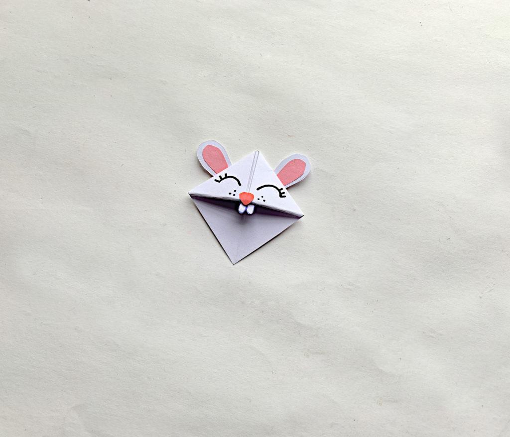 origami bunny bookmark