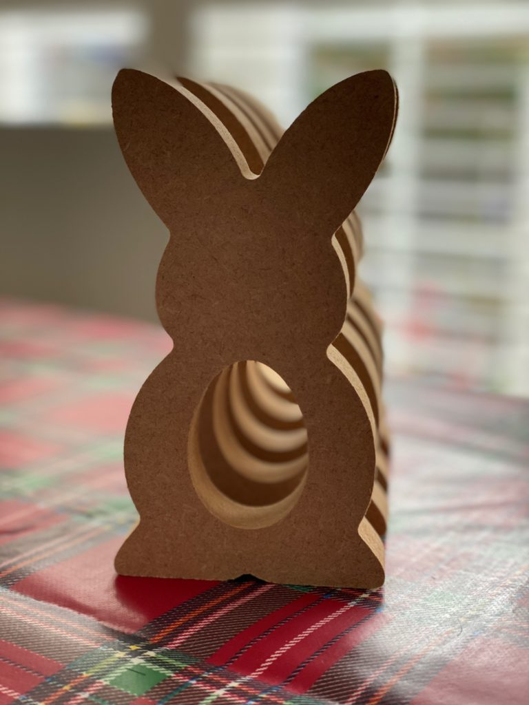 Personalised wooden bunny egg holders