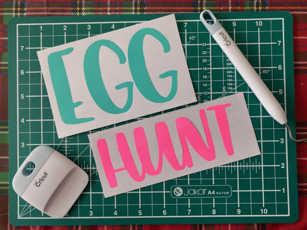Cricut made Easter Egg hunt