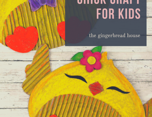 Recycled cardboard chick craft for kids