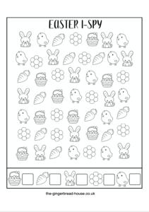 Free printable Easter i-spy activity for kids