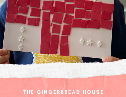 St George's Day mosaic for kids from the gingerbread house