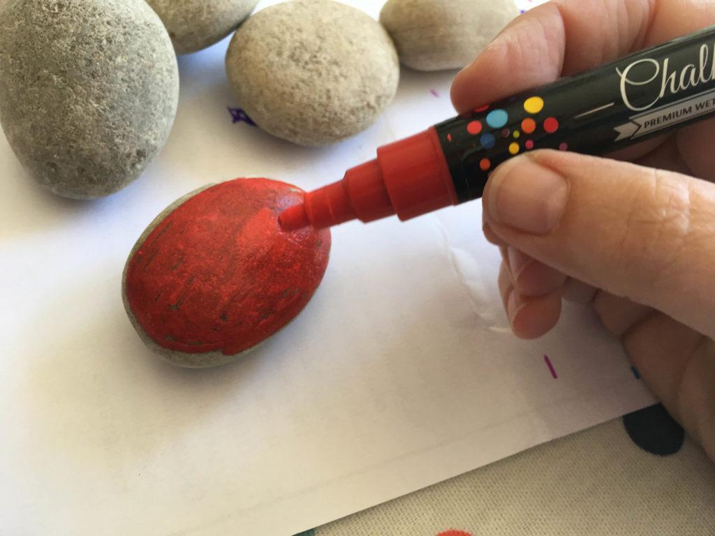 painted ladybird rocks