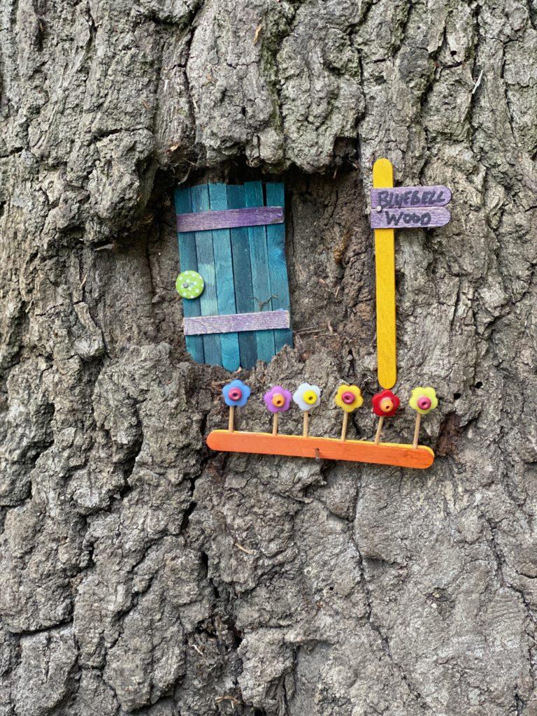 fairy door in tree in Ruislip